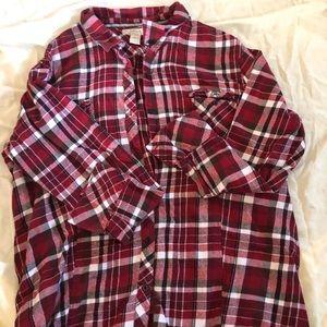 Plus Size Flannel shirt
